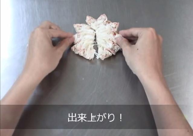ズワイガニの殻剥き